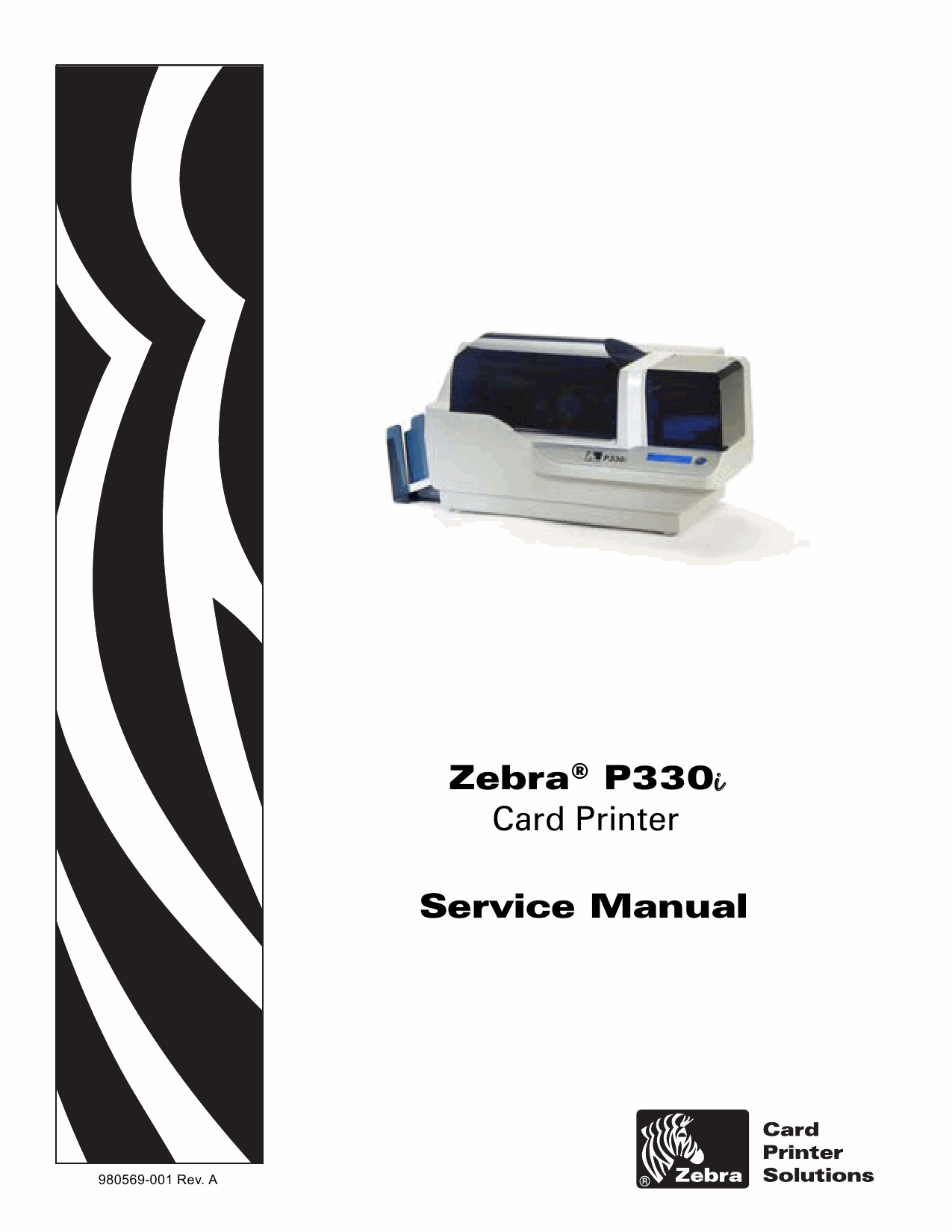Zebra Label P330i Service Manual-1